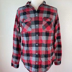 Eddie Bauer Flannel Button Down Shirt Size M EUC
